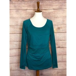 Danskin Teal Long Sleeve Top